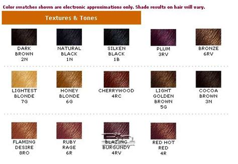 clairol textures and tones color chart clairol demi colors products houseofbeautyworld wigs