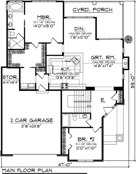 3 bedroom 2 bath 2 car garage floor plans craftsman style house plan 2 beds 2 baths 1613 sq ft