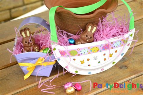 Paper Plate Basket Craft - easter baskets paper plates crafts