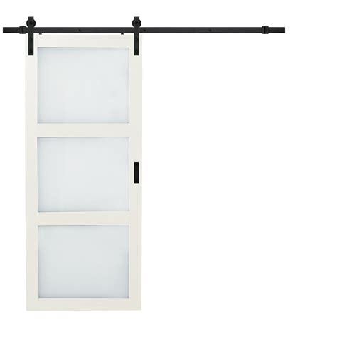 Barn Door Widths - truporte 36 in x 84 in bright white solid rustic