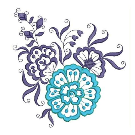 embroidery design in flower blue flower embroidery designs embroideryshristi