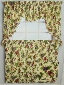 Fruit Kitchen Curtains 2 Sets Fruit Kitchen Curtain Tier Valance Panel Cherry Green 56 36 Nwt Ebay