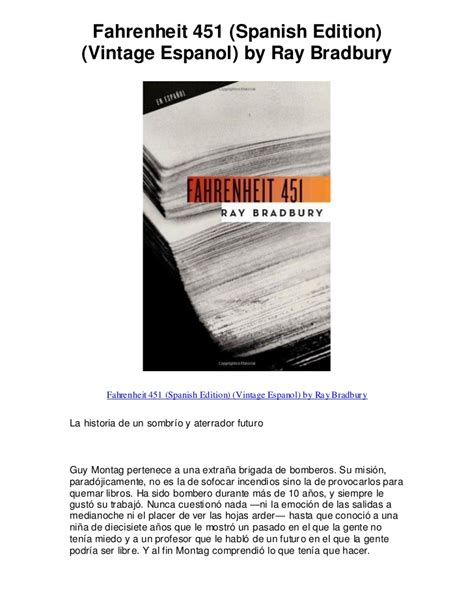 fahrenheit 451 spanish edition vintage espanol by 5 star review