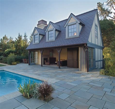 garage pool house garage and pool house pool traditional with low garden