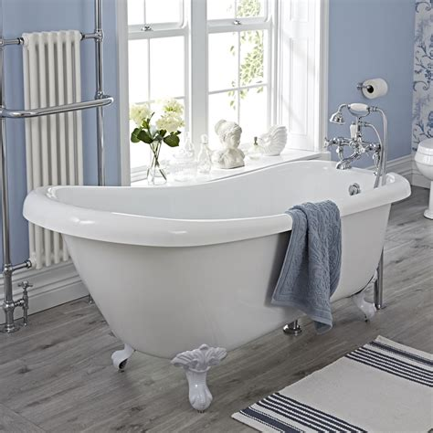 slipper bathroom suites milano carlton freestanding slipper bath suite low level