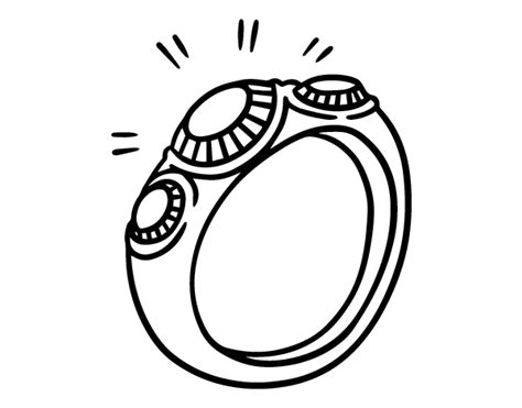 Ring With Diamonds Coloring Page Coloringcrew Com Ring Coloring Pages