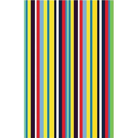 Colored Kitchen Faucets La Rug Fun Time Stripemania Multi Colored 19 In X 29 In