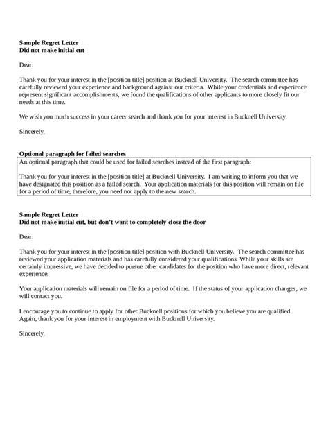 reject letter for job letter idea 2018