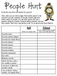 Team Building Worksheets For Adults by Team Classbuilding Ideas Hunt Students Search