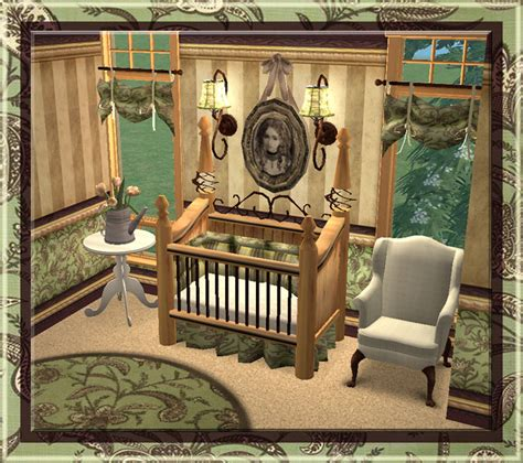 Nursery Table Ls Mod The Sims Homey Touches The Nursery Set 16 New Meshes