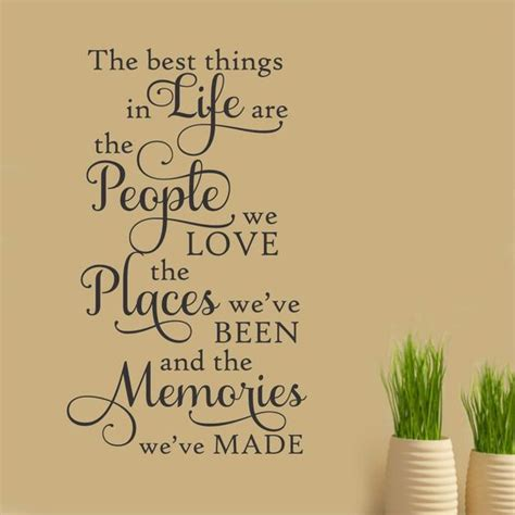 The Recipe Thing by Best Things Places Memories Vinyl Quotes Wall