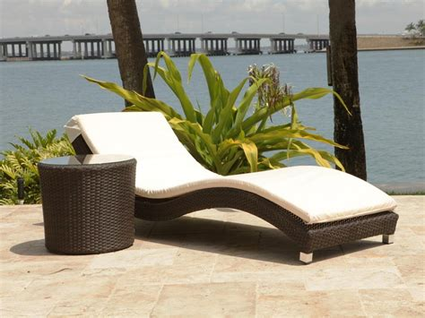 outdoor wicker chaise lounge source outdoor wave 2 wicker chaise lounge set