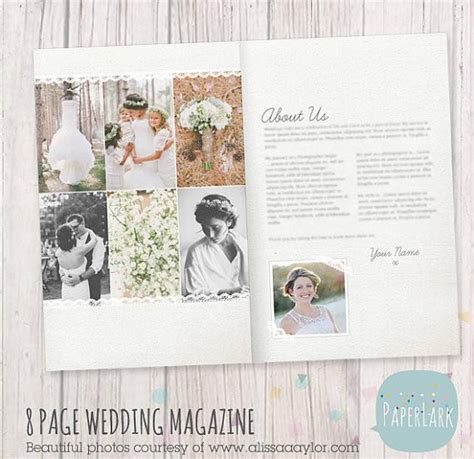 photography magazine template 8 page wedding photography magazine template pg008 paper