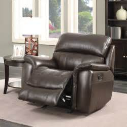 pulaski wilson leather manual recliner chair brown
