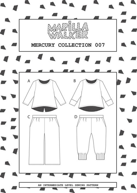 Pdf Mercury 1 by Pdf Mercury Collection Sewing Pattern