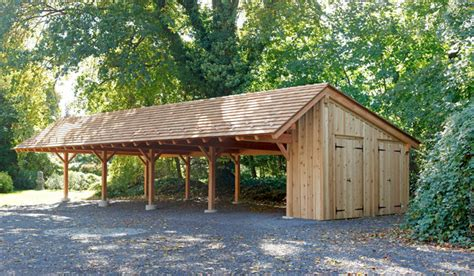 timber frame carport  wynncote pa traditional