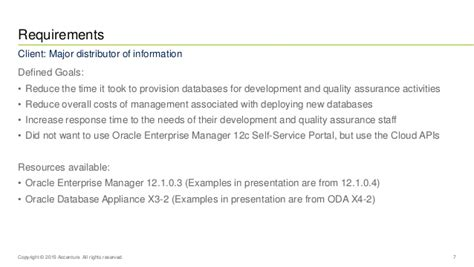 Bryant Mba Program Requirements by Database As A Service Oem Oda Oow 15 Presentation