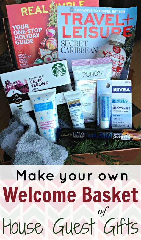 house gift make a welcome basket of house guest gifts