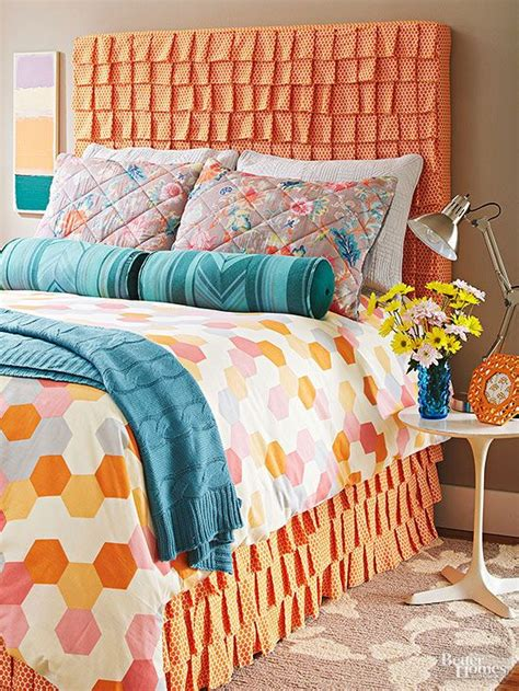 better homes and gardens bedroom ideas diy ruffled fabric headboard diy headboards headboard
