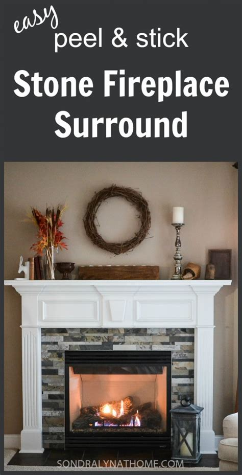 Easy Diy Fireplace Mantel by Easy Peel And Stick Fireplace Surround Lyn At Home