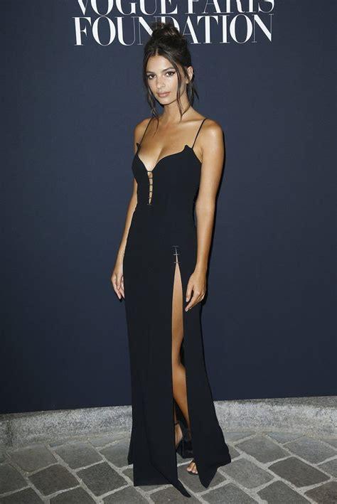 Emely Dress emily ratajkowski stuns in revealing black dress