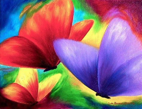 colorful painting colorful butterfly painting art print 11x14