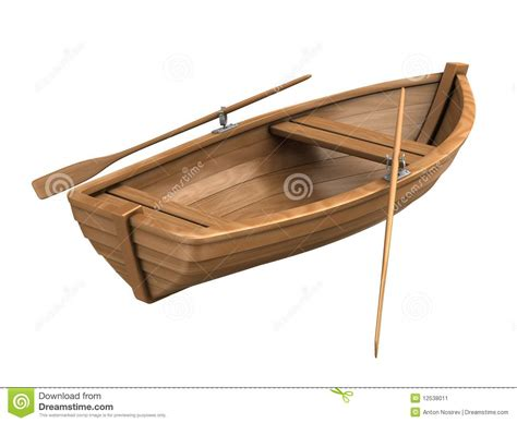 tiny boat drawing wood boat isolated on white stock illustration