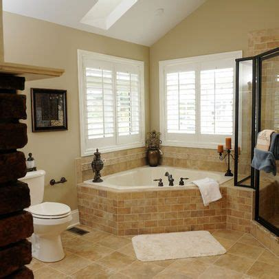 corner tub bathroom designs corner whirlpool tub design ideas pictures remodel and