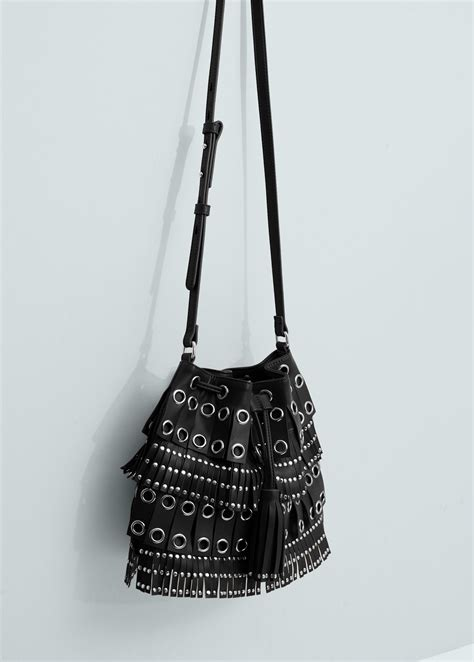 Original Mango Studed Bag lyst mango studded bag in black