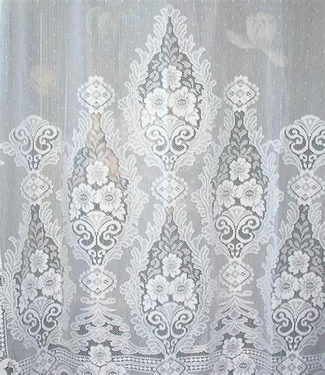 art deco lace curtains vintage art deco french point d esprit dot net floral lace