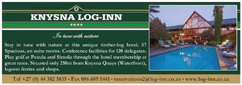 knysna log inn garden route accommodation