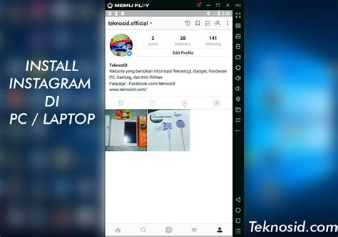 tutorial instagram di pc cara buka install instagram di pc laptop teknosid