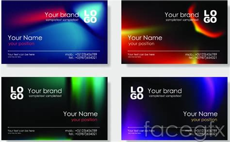 business card powerpoint template bright business card templates design vector