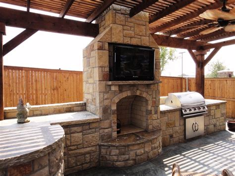 Mj Outdoor Living Outdoor Kitchens Outdoor Kitchen And Fireplace