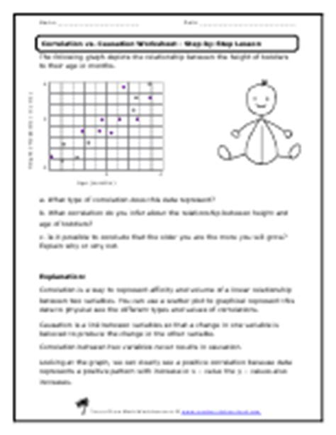 correlation worksheet correlation vs causation worksheets