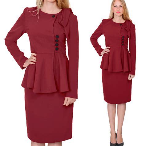 womens vintage peplum skirt suit retro business