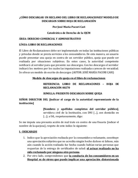 libro una carta para lily c 243 mo hacer descargar un reclamo del libro de reclamaciones modelo d