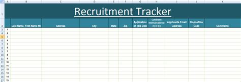 Recruitment Tracker Excel Template Xls Microsoft Excel Templates Excel Project Management Recruitment Plan Template Excel