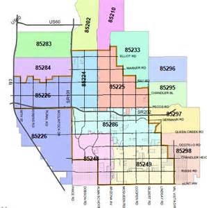 zip codes gilbert arizona map
