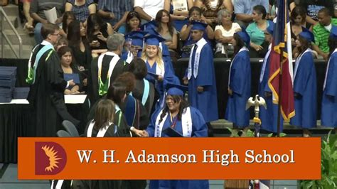 h k high school graduate makes 2013 new england patriots w h adamson high school graduation 2013 youtube