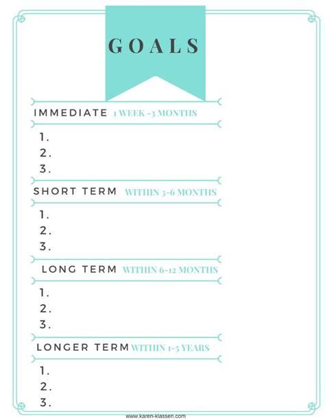 free goal planner printable setting goals and a free printable goal planner