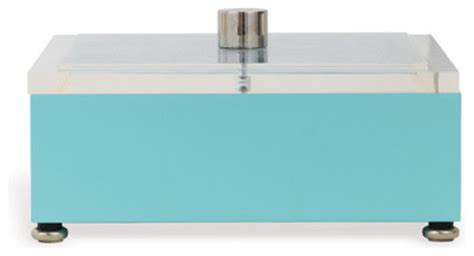 Lucite Turquoise Box Modern Desk Accessories By Turquoise Desk Accessories