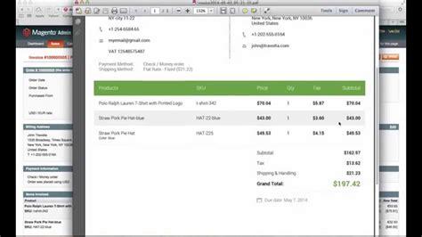 invoice design magento studio4 invoice template for magento youtube
