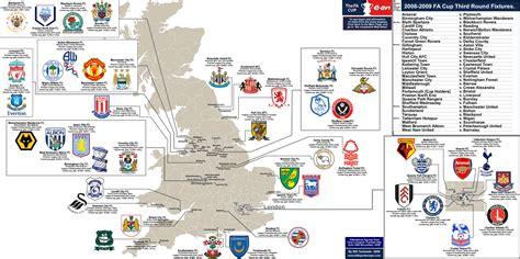 map of premier league teams 2008 09 fa cup 171 billsportsmaps