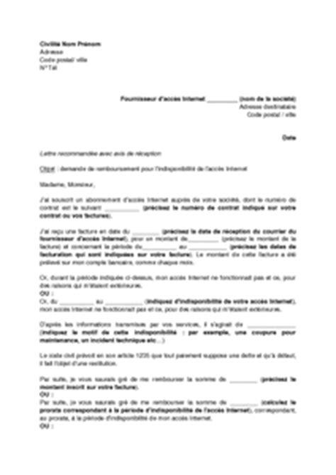 Modele Lettre De D Dommagement Free Modele Lettre De Remboursement Free Contrat De Travail 2018