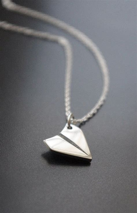 airplane necklace paper airplane necklace sterling silver