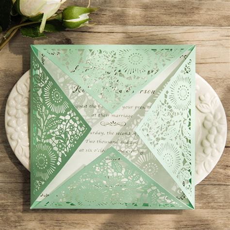Cheap Green Wedding Invitations by Gorgeous Mint Invitation Inspired Wedding Color Combo