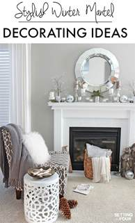 Decorating Ideas For Winter Mantel Decorating Ideas Setting For Four