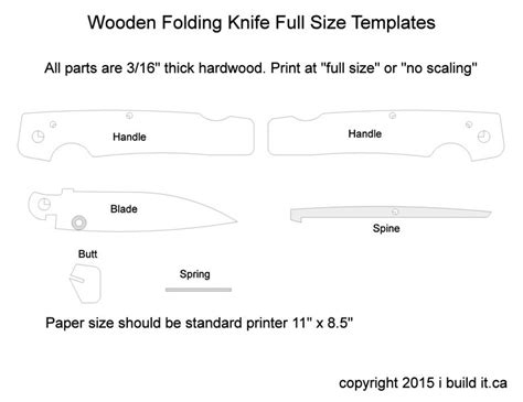 pattern lock maker folding knife template knives pinterest other