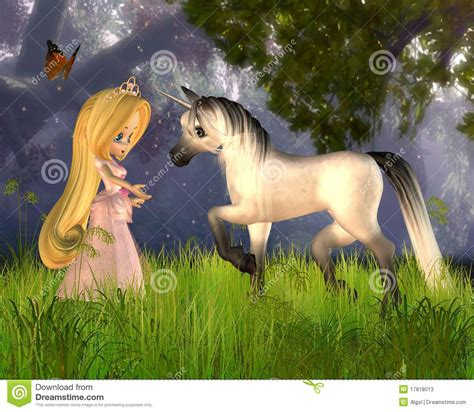 imagenes de fantasia unicornios cute toon fairytale princess and unicorn stock photos